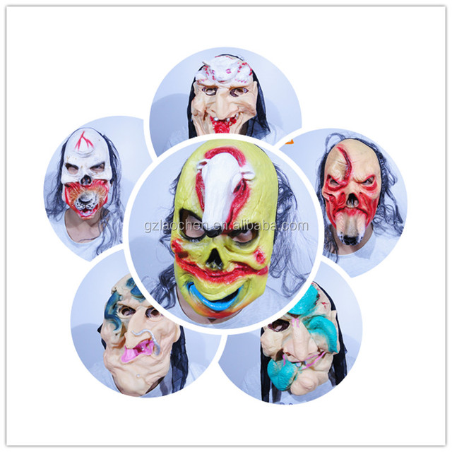 halloween party sheep scary tiger cosplay deer rubber horse mask anime goat latex snake horror animal mask