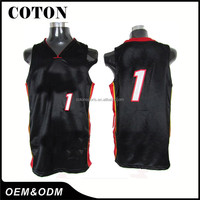 Polyester Dry Fit Basketball Jersey Uiform Design