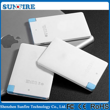 Credit card size power bank battery charger 2300mah power bank