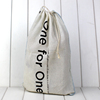 Custom linen drawstring bag, cotton canvas drawstring bag