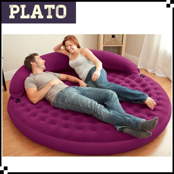 Tufting back recumbent circular sofa lazy leisure inflatable sofa home sofa bed