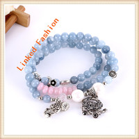 Fashion New Folk styles Summer Lady Symbol of Good luck beads multilayer Elastic beads bracelets
