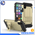 New Hot High Quality Phone Accessories Holster Kickstand Combo Case for iphone X
