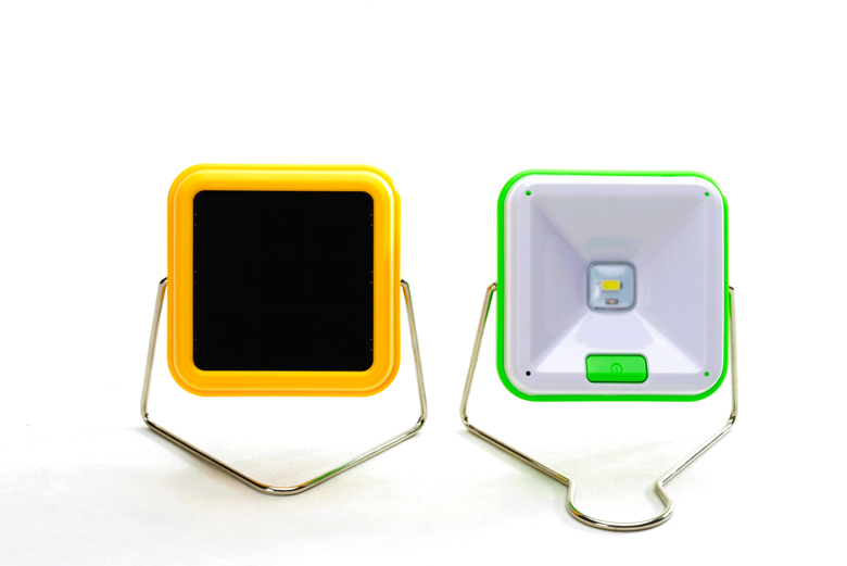 High Quality 2W 180Lumens led 3.4W solar rechargeable lantern with USB phone charger for Village Camp Caravan Africa