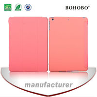 Foldable sublimation pu leather+tablet plastic case for ipad air5