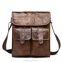 Vintage Casual Bag Business Men's Bag Vintage Genuine Real Men Leather Bag