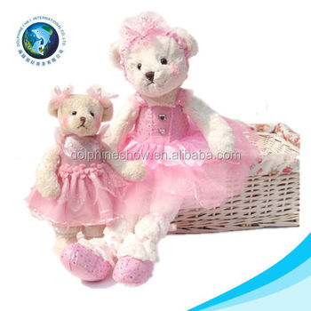 Cute ballet bear toy for kids