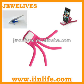 Special Silicone mobile phone display funny stand