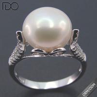 Multi beautiful style pink pearl gemstone ring