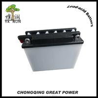 Conventional lead acid motorcycle storage battery