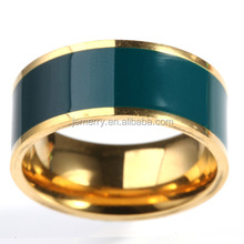 Jewelry Manufacturer China Hot Sell Men Women Rainbow Color Stainless Steel Oil Color Party Ring