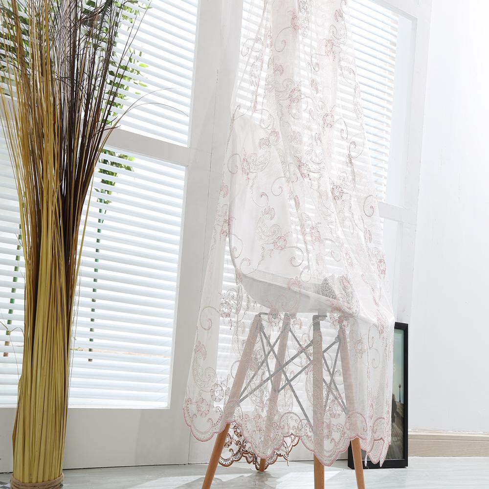 leinen gardinen mit stickerei gardinen 2018. Black Bedroom Furniture Sets. Home Design Ideas