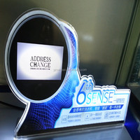 Acrylic Business Sign Holder Board Menu Display for Hotel Bar Table Card Holder Board