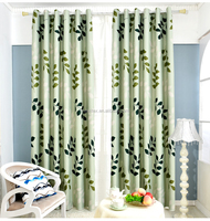 Latest Modern Designs Blackout Window Curtains and Leaves Printed Floral Blackout Curtains