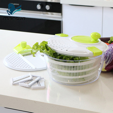 professional kitchen helper fresh fruits and vegetables salad mixer tools salad spinner and slicer