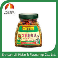 wholesale traditional Chinese food, 280g pickle with pepper in bottle