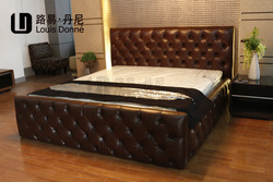 Reasonable price hot selling wooden bed sample