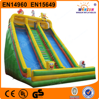 WINSUN EN14960 EN15649 stimulating abrupt spongebob inflatable water slide