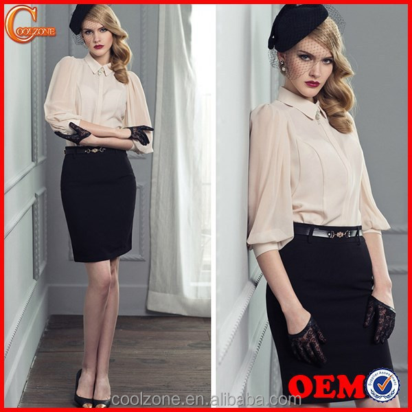 Women summer two pieces office lady uniform business lady suit