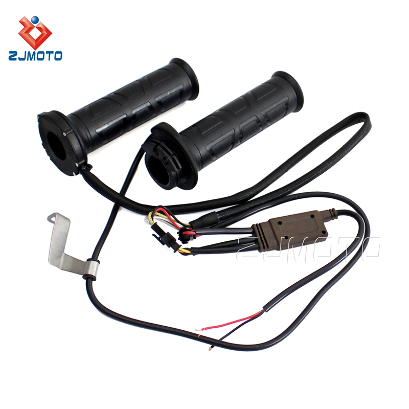 Wholesale Motorcycle Electric Heated 22mm Metal Grips Headlebar Suitable For Motorbikes With Standard Bars Single Throttle Cable