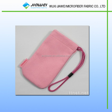 Single pull microfiber pouch with logo printing