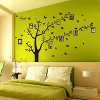 Waterproof Self Adhesive Family Tree Decorative Living Room 3D Wall Sticker
