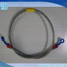 SAEJ1401 Stainless steel wire braided flexible PTFE Teflon hydraulic brake hose with banjo fitting