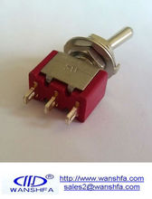Red color small toggle switch