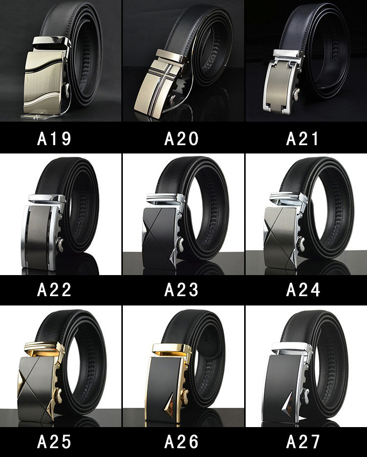 ab392 America Cool Automatic Buckle Men Belt for Suit