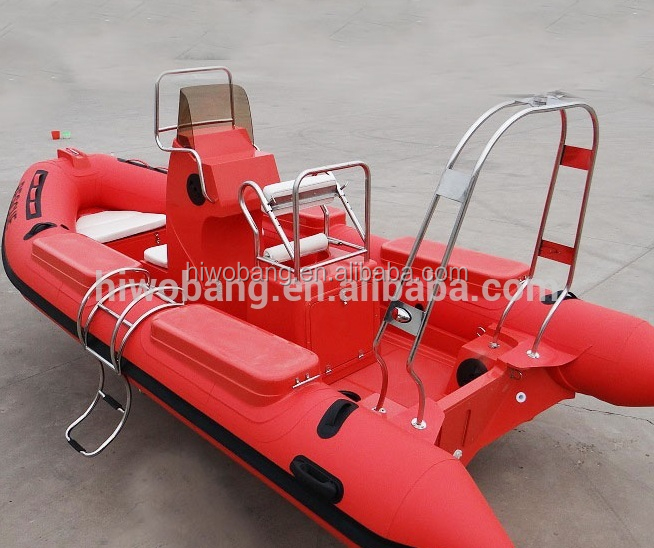 China Speed Sobering Red 5.2m Heavy Duty Rescue Rib Boat with Cabin
