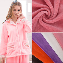 Knitted 100% Polyester Plain dyed flannel Fleece Fabric for hometextile and garment