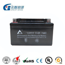 Maintenance Free Motorcycle Battery YTX7L-BS 12V7AH