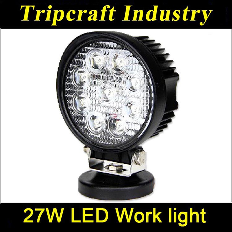 4inch round led work light waterproof 27w offroad work light,12v led trailer light china