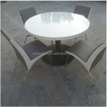 japanese style dining table, round dining table,solid surface restaurant Table with Chairs