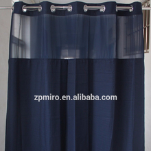 100%Polyester double layer shower curtain jacquard hotel shower curtain