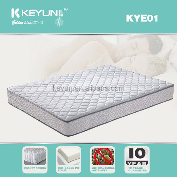 Rolled Memory foam pocket coil spring mattress
