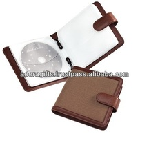 Popular & soft promotional cd bags & cases / cute design cd bag supplier / new leather custom cd dvd holders