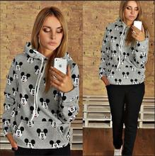 China Alibaba Women's Grey Full Printing Sports Unbranded El Wire Hoodie