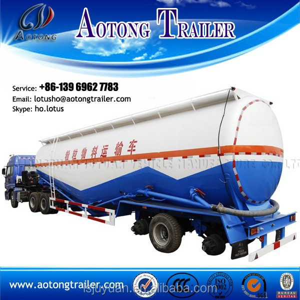 China trailer manufacturer 3 axle 45m3 used bulk cement tanker trailer for sale