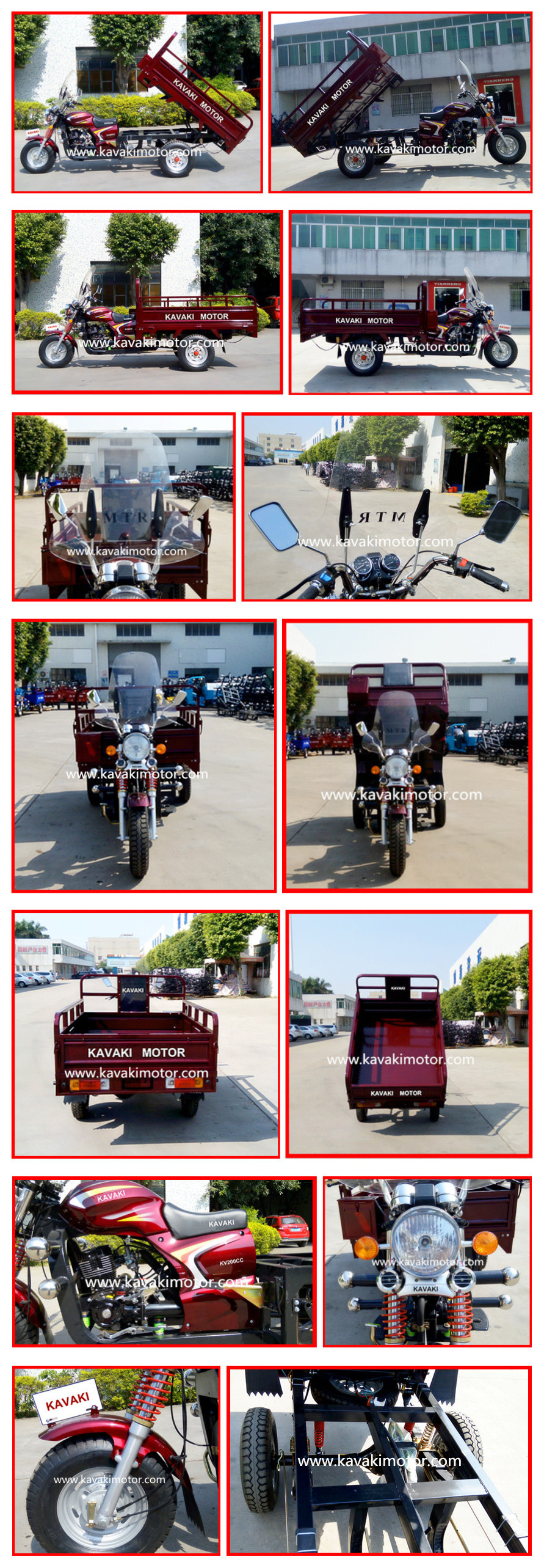 High Performance 200cc Engine Power Three Wheeler Motor Cargo Vehicle Top Sales In Nigeria