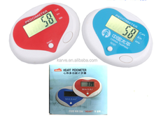 multifunctional heart shape pedometer for sports, step counter,