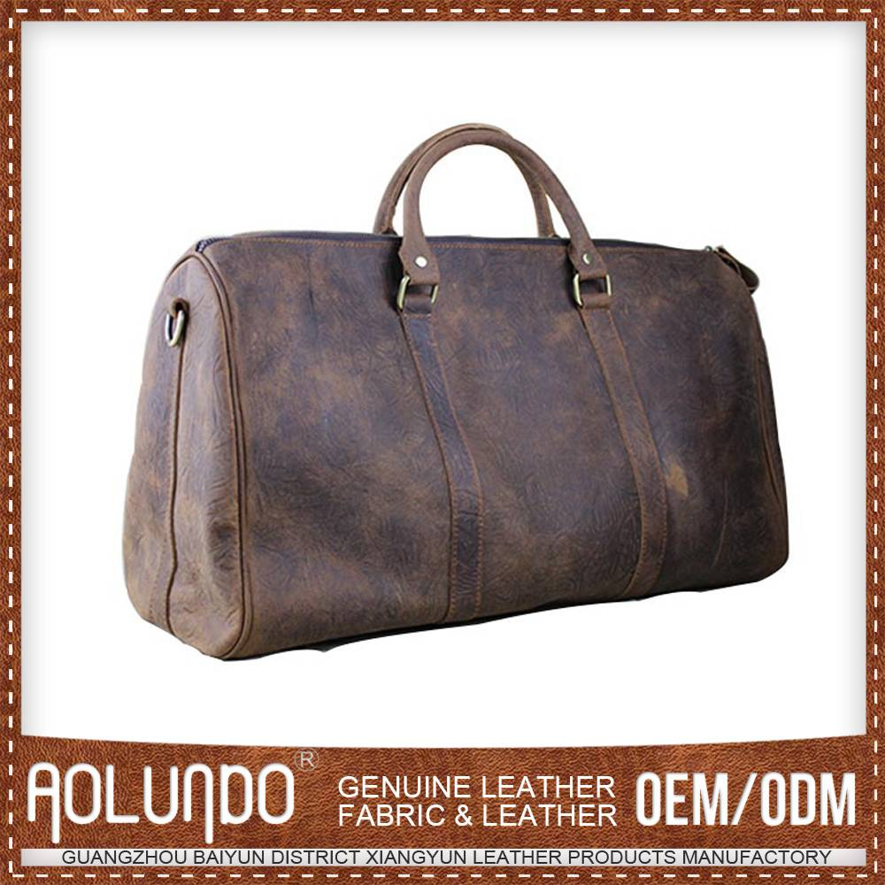 Hot sale Best Design Customized Logo Men Leather Travel Bag from China manufacturer