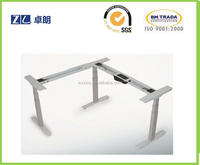 L Shape Steel Electric Height Adjustable Desks Best Office Furniture