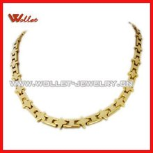Golden Magnetic necklace jewelry