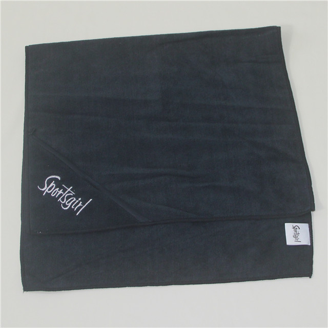 100% <strong>cotton</strong> thickening super absorption sport zip pocket gym sport towel