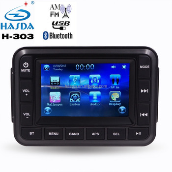 5' TFT GPS car mp3 radio with bluetooth FM touch screen for yacht sauna spa shower bathroom swimming pool ATV UTV golf carts