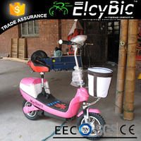 high power front basket 2 wheels electric scooter(E-SK06)
