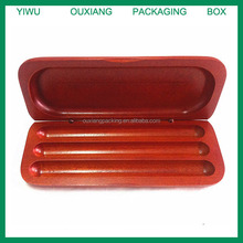 solid wood hot sale wooden pen box for three pens