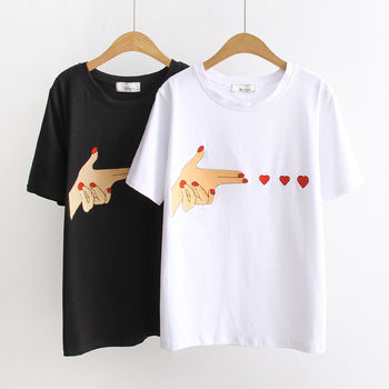 MS75166L Hot selling women loose summer t-shirts