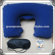 High quality 3 in 1 Travel Set (Neck Pillow / Earplug / Eyeshade ) For Airline And Camping